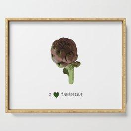 Artichoke - I love veggies Serving Tray