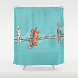 Boho Clothespin Shower Curtain