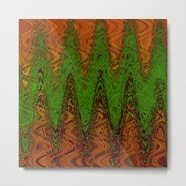 Waving Green Metal Print