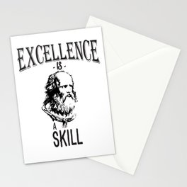 Excellence Is A Skill | Plato Stationery Cards