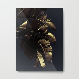 Golden Palm Metal Print