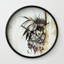 WOLF and the girl Wall Clock