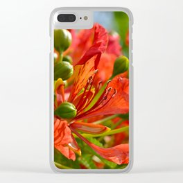 Red flame tree 290 Clear iPhone Case