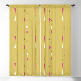 Midcentury gold and pink Blackout Curtain