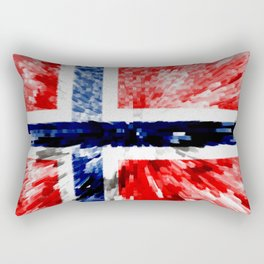 Extruded Flag of Norway Rectangular Pillow