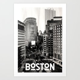 Boston, Massachusetts City Skyline Art Print