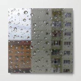 Drops of rain Metal Print