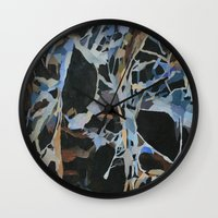 insect Wall Clocks featuring Insect Graveyard by Rachel Hoffman