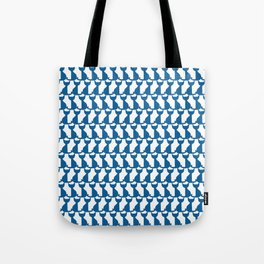 Cats blue pattern Tote Bag