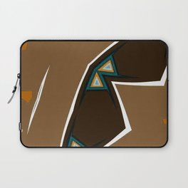 Brown Zags Laptop Sleeve