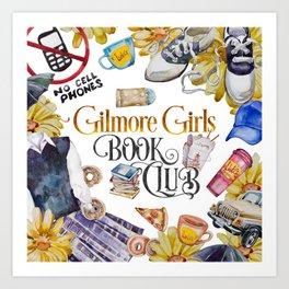 GG Book Club WhiteBG Art Print