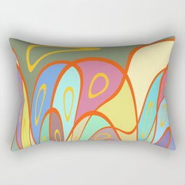 Distorted squares and circles Rectangular Pillow
