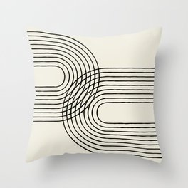 Arch duo 2 Mid century modern Throw Pillow