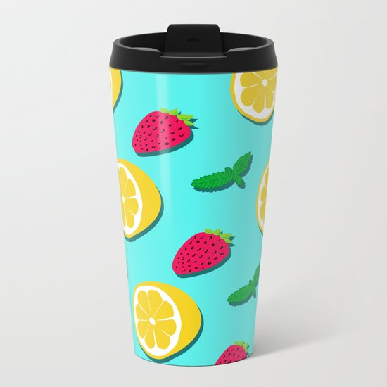 Fruit Party #society6 #decor #buyart Metal Travel Mug