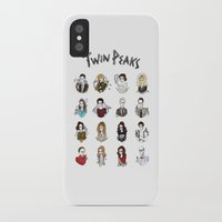 twin peaks iPhone & iPod Cases featuring twin peaks by Bunny Miele