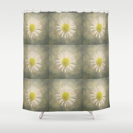 Daisy squares Shower Curtain