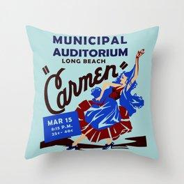 Carmen Long Beach Throw Pillow