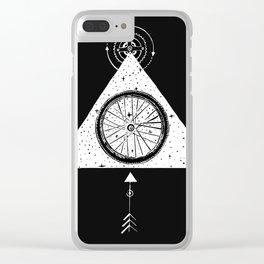 geo black bike Clear iPhone Case