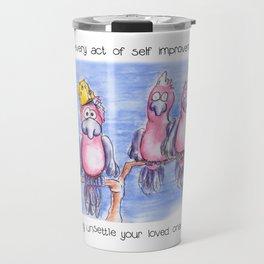 Self Improvement For Parrots Travel Mug