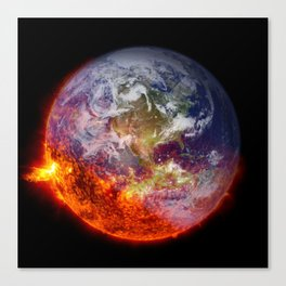 Global Warming Climate Change Canvas Print
