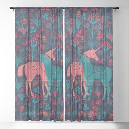 Unicorn Land Sheer Curtain
