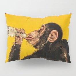 Vintage Anisette Liquor Italian Drinking 'Drunken Monkey' Aperitif Advertisement Poster Pillow Sham