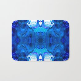 Blue Indian iconography Bath Mat