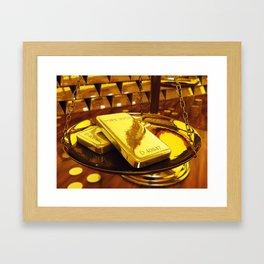 Gold investment Framed Art Print