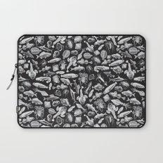 Aquatic I: White on Black Laptop Sleeve