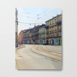 Kraków Color Metal Print