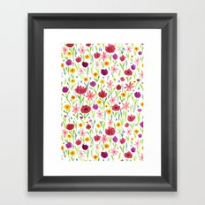 Flowerfield Framed Art Print