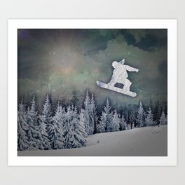 The Snowboarder Art Print