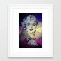 marilyn Framed Art Prints featuring Marilyn by Esco