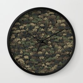 Invaders camouflage Wall Clock