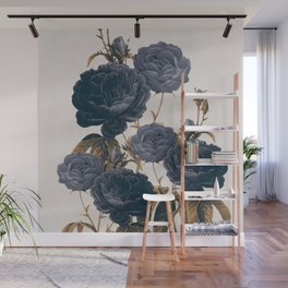 blue flowers Wall Mural