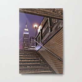 Empire State Subway - New York Photography Metal Print