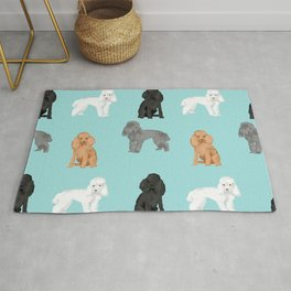 Toy Poodles mixed coat colors dog breed gifts pet portraits must haves poodles Rug