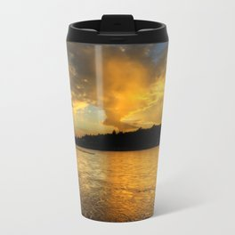 when the light turns to gold... Travel Mug
