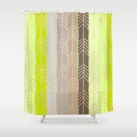 arrow Shower Curtains featuring Arrow by Ebru S.