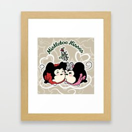 Mistletoe  Kisses Framed Art Print