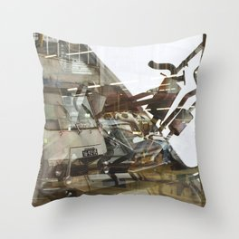Car Emissions - overlapper Throw Pillow