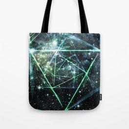 Abstract Triangle Nebula Tote Bag
