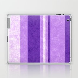 Retro Vintage Lilac Grunge Stripes Laptop & iPad Skin