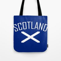 scotland Tote Bags featuring Scotland by Earl of Grey