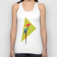 parrot Tank Tops featuring parrot by William