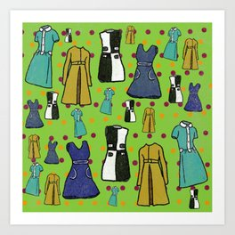 1960 Dress Fashion Art Print