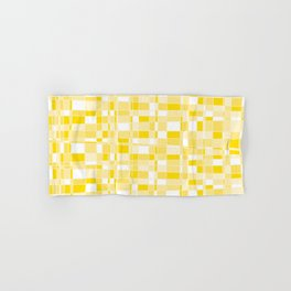Mod Gingham - Yellow Hand & Bath Towel
