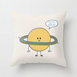 Lets Hula Throw Pillow