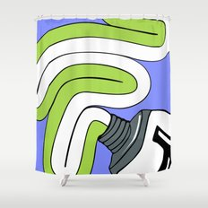 Toothpaste Shower Curtain