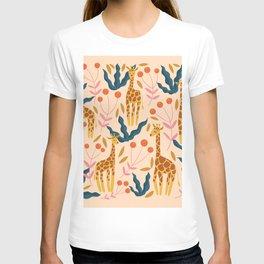 Giraffe Illustration - yellow T-shirt